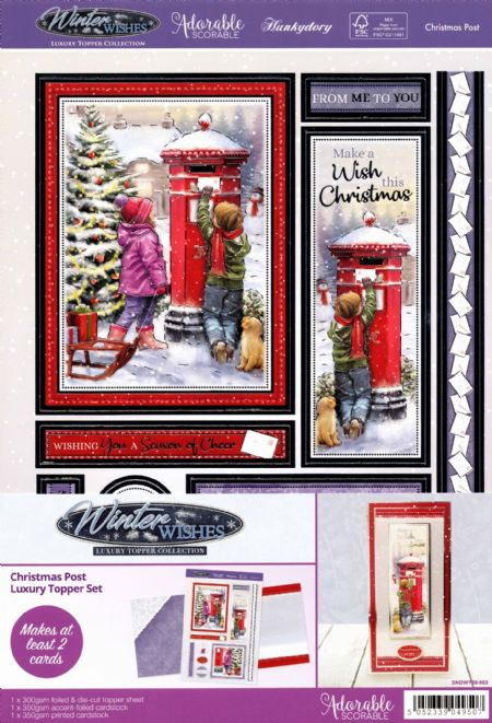 Christmas Post - Winter Wishes Luxury Topper Set By Hunkydory